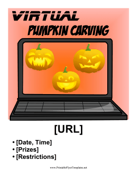 Virtual Pumpkin Carving Contest Printable Template