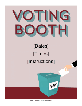 Voting Booth Flyer Printable Template