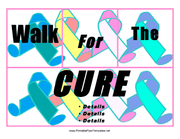 Walk For The Cure Flyer Printable Template