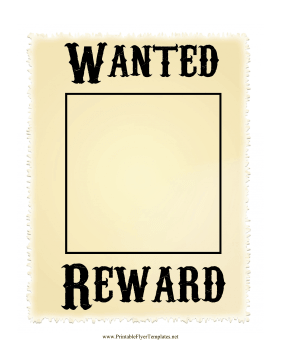 Wanted Poster Printable Template