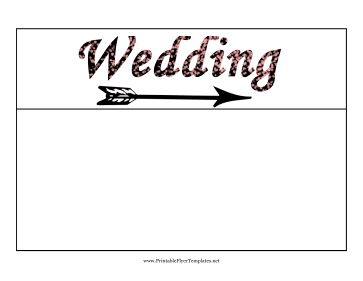 Wedding Flyer Right Printable Template