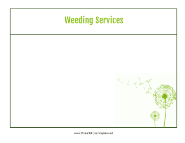 Weeding Services Flyer Printable Template