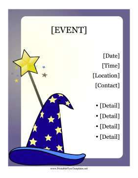 Wizard Flyer Printable Template