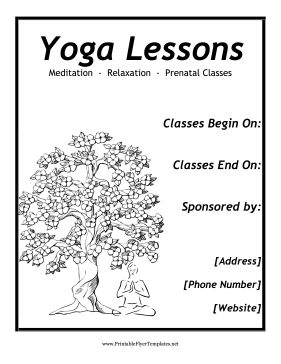 Yoga Flyer Printable Template