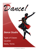 Dance Class Flyer Printable Template