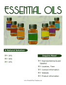 Essential Oils Marketing Material Printable Template