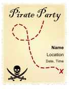 Pirate Party Flyer Printable Template