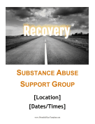 Recovery Support Flyer Printable Template