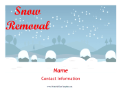 Snow Removal Services Flyer Printable Template