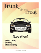 Trunk Or Treat Printable Template
