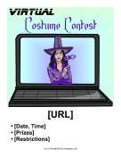 Virtual Costume Contest Printable Template