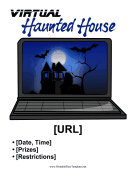 Virtual Haunted House Printable Template